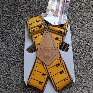 Suspenders elastic yellow one size New